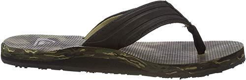 Quiksilver Herren Island Oasis Sport Sandalen, Mehrfarbig (Black/Brown/Green Xkcg), 41 EU