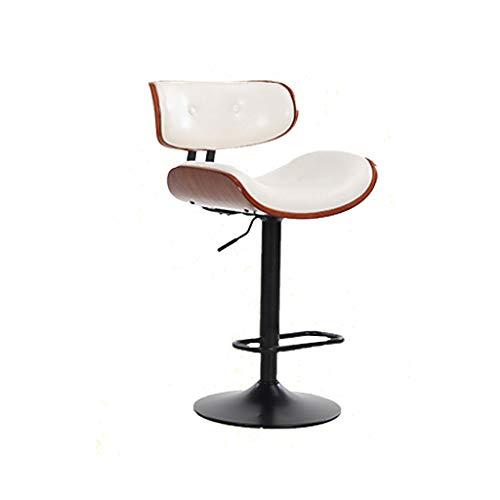TXXM, sedia da bar in stile retrò, sedia girevole da bar in legno massello
