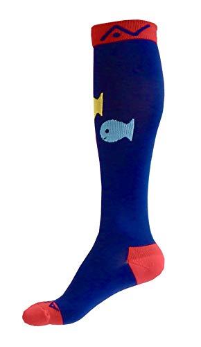 Compression Socks (1 pair) for Women & Men (Ardent Argyle, S/M)