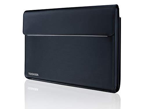 Toshiba, Custodia per Notebook 14', Compatibile con Tecra X-Series, in Ecopelle e Poliestere, Colore Nero