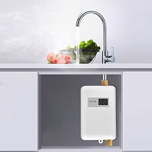 TTLIFE Mini Calentador De Agua, 3800w Eléctrico Calentador Agua Instantáneo Ducha Sistema...