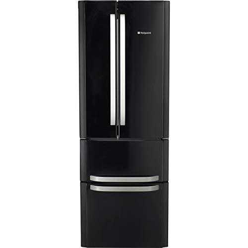 Hotpoint FFU4DK1 Quadrio 70cm Wide Frost Free Freestanding Fridge Freezer - Black