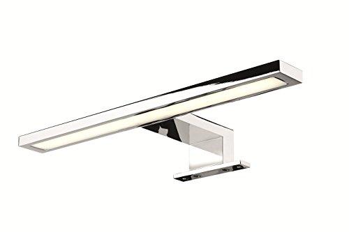Gedotec Moderne LED-Leuchte Spiegelleuchte Bad Anbauleuchte Spiegel-Schrank - VION LITE | Länge 300 mm | Badleuchte A++ | warmweiß 3000 K | IP44 geprüft | W 230V - 12V | 1 Stück - Badlampe verchromt