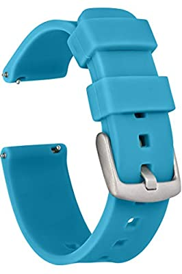 GadgetWraps Silicone Watch Band with Quick Release Pins - Choose Between 3 Strap Sizes (14mm, 20mm, 22mm) and 29 Unique Colors - Soft Rubber Bands