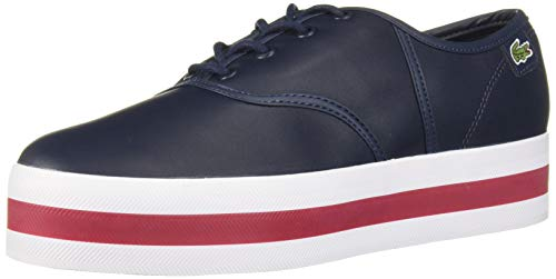 Lacoste Women's Rene Shoe, Navy/Red, 5.5 Medium US