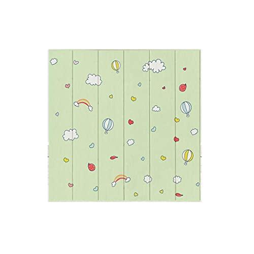 LICHAO Paneles de pared de ladrillo de espuma BRICOLAJE Papel tapiz estéreo de dibujos animados Peel and Stick Azulejos Lindo imitación Paneles de pared de ladrillo para niños Soft Soft Tablero de esp