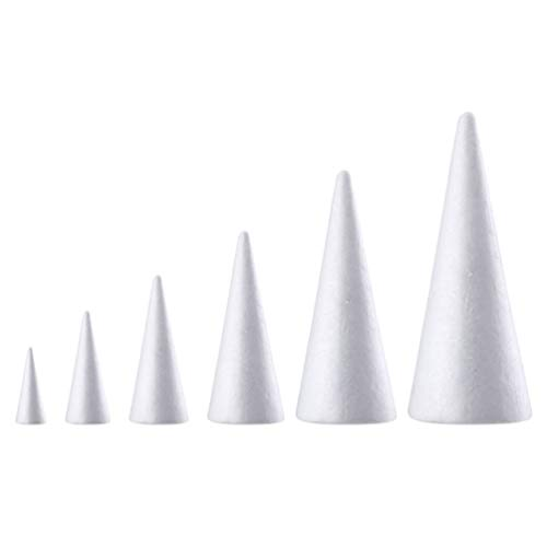 Holibanna conos de espuma artesanía en forma de cono de esp