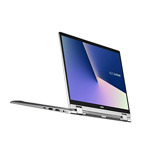 ASUS ZenBook Flip 14 UM462DA (90NB0MK1-M00250) 35,5 cm (14 Zoll, Full HD, IPS-Level, Touch) Convertible Notebook (AMD R7-3700U, AMD Radeon Vega 10 Graphics, 8GB RAM, 512GB SSD, Windows 10) Light Grey