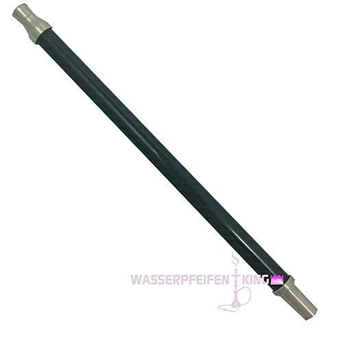 THS Carbon Shisha Mundstück schwarz matt mit V2A Edelstahl für Silikonschlauch
