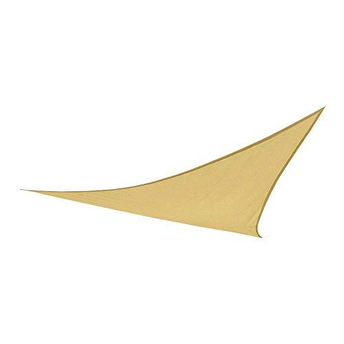 Aktive 61015 Toldo Vela Triangular con protección UV50, Crema, 360 x 360 x 360 cm