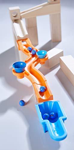 Haba 303942 - Kugelbahn - Ergänzungsset Sound Effects | Kugelbahn-Erweiterung aus Holz mit Soundeffekt-Bahn und 2 unterschiedlich klingenden Glöckchen | Spielzeug ab 4 Jahren
