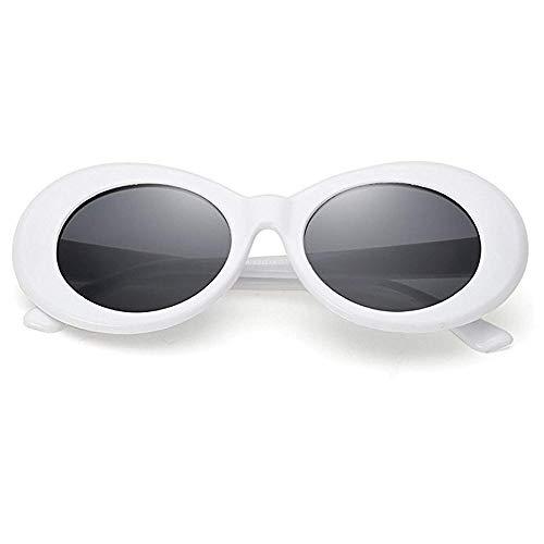 JUCOO - Schlag-Schutzbrille, ovale Sonnenbrille Damen, Weiá (weiß), Freie Größe