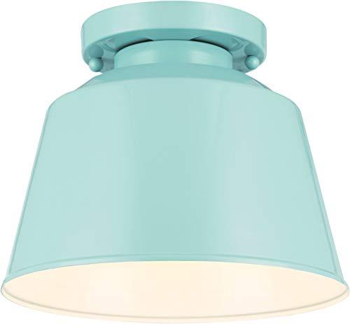 Feiss Outdoor 1-Light Ceiling Light, Hi Gloss Blue