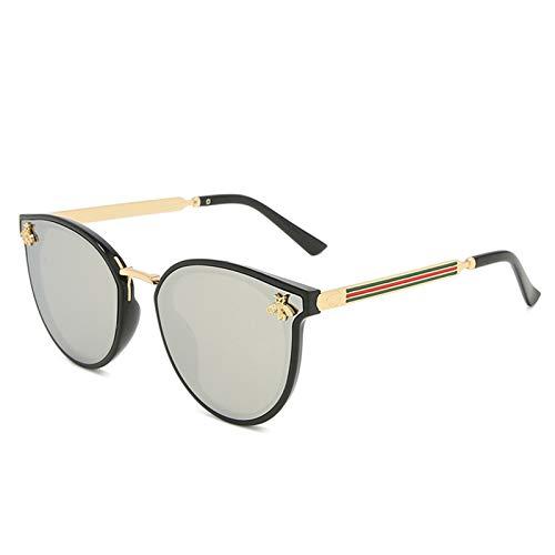 2021 Nuevas gafas de sol abeja roja verde moda uv gafas de sol vintage gafas retro gafas de sol gafas de sol gafas de sol redondo gafas de sol gafas de sol gafas de ojos moda ( Lenses Color : C6 )