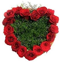 RomanticVIBES Flowers Bouquet Fresh Roses I Valentine Gift for Girlfriend I Valentine Gift for Boyfriend I Gift for Girls I Wedding Gift for Couples (143 Fresh and Real Red Roses)