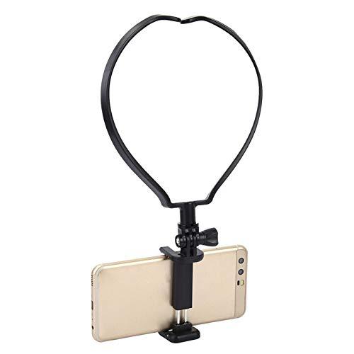 DAUERHAFT Soporte Universal de plástico para teléfono con Cuello de aplicación Ancha, Negro, de 3,54 Pulgadas, para teléfonos de Menos de 6 Pulgadas, para xiaoyi