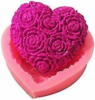 S.Han Silicone Heart Shape Fondant Mould Gumpaste Mold Cake Decorating Tool Baking bakeware