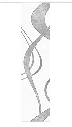 Vision S Schiebegardine TIBANO Links, halb-transparenter Stoff in Bambus-Optik, 260 x 60 cm (h x b), Farbe: (grau)