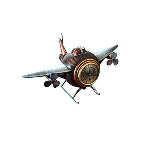 TXWS Wecker Tischsitz Uhr Weinbar Bekleidungsgeschäft Uhr Flugzeuguhr Haushaltsflugzeug