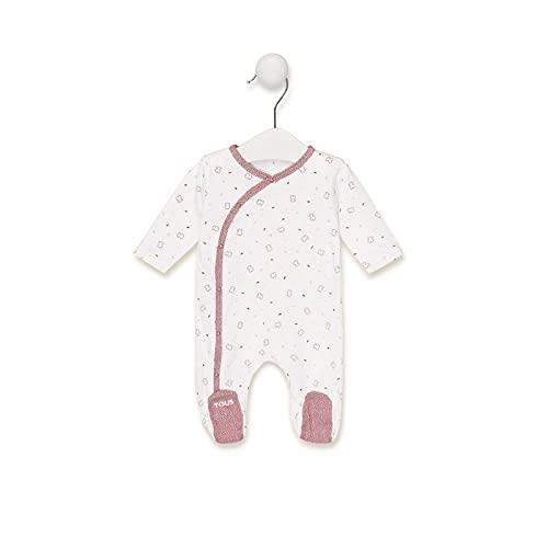 TOUS BABY - Pelele de Manga Larga con Estampado Chill para tu Bebé. (Marrón, 3-6 meses)