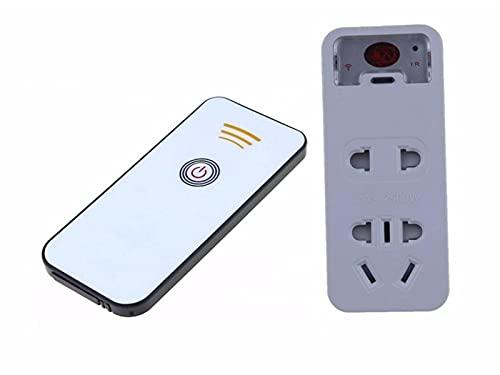 Flyuzi Elettrodomestici Set-Top Box 220V Potenza a infrarossi a infrarossi 7 Metri Imparare l'interruttore di Controllo remoto Presa Wireless