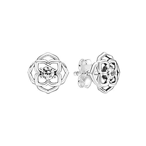 Pandora, Pendientes de rosa de plata de ley 299371C01