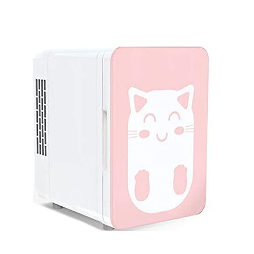 Mini Nevera, Mini Refrigerador Portátil para el Skincare 4L/6Latas de Refrescos para Enfriar y Calentar para Skincare, Alimentos, Bebidas - Mini Neveras 110-220V/12V para Hogar, Oficio , Coche,Pink