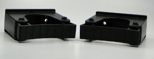 2 Stck. Toolflex Werkzeughalter und Gerätehalter für Stiele mit Durchmesser 30-40mm inkl. Befestigungsmaterial