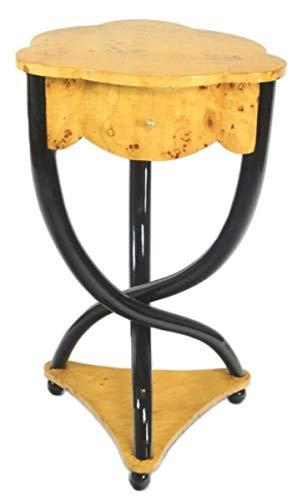 Casa Padrino Biedermeier Schubladen Schrank Vogelaugenahorn - Handgefertigt aus Massivholz - Nachtschrank Nachttisch Kommode