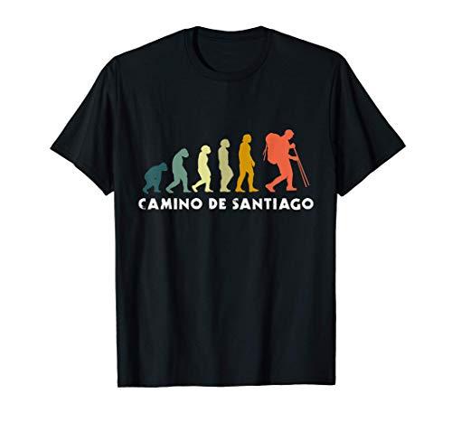 Hombre Evolución del peregrino - Camino de Santiago Regalo Camiseta