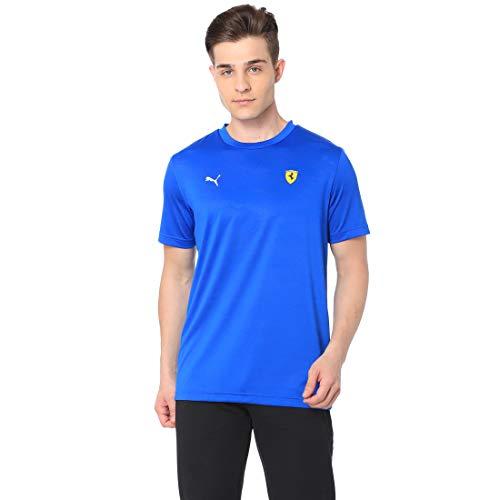 PUMA Scuderia Ferrari F1 Graphic Tee Shirt blau Formel 1 Fan Jersey Trikot, Größe:S