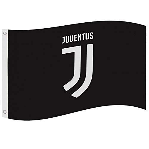 Juventus FC Wappen Flagge Gr. Einheitsgröße, Schwarz
