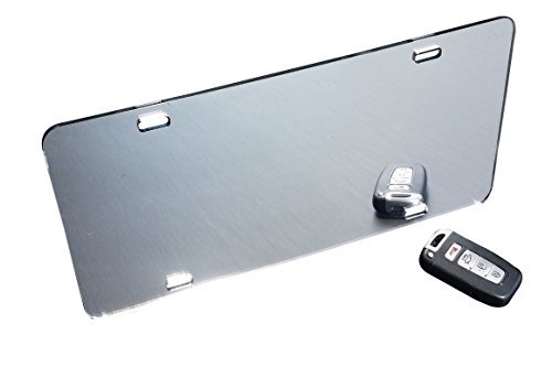 Marketing Holders Blank License Plate Laser Cut Acrylic Silver Mirror Qty 1