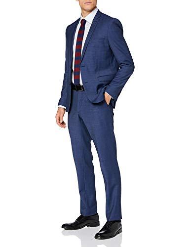 ESPRIT Collection Herren 080EO2M301 Business-Anzug Hosen-Set, 434/BLUE 5, 48