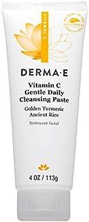 Derma E Vitamin C Gentle Daily Cleansing Golden Turmeric Paste, 113 g