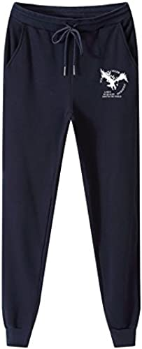 Dufjodi Un Pantalon Stretch lache Hommes Hommes du Pantalon et Sports d'hiver Un Pantalon,Bleu foncé,l