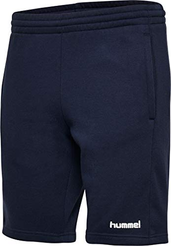 hummel Damen HMLGO Cotton Bermuda Woman Shorts, Marine, M