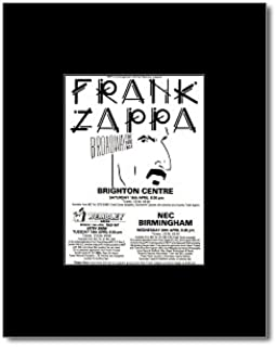 Music Ad World Frank Zappa - UK Tour 1988 Mini Poster - 13.5x10cm