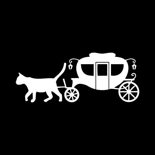 SHMAZ 14 Cm * 5,7 Cm Gato Dibujado Carro Divertido Calcomanía Speshuls Coche Pegatina Decoración Negro Plata