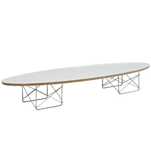 Modway Surfboard Coffee Table in White