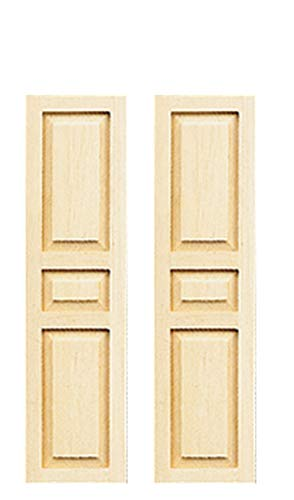 Dollhouse Miniature 3-Panel Shutters, Pair #HW5022
