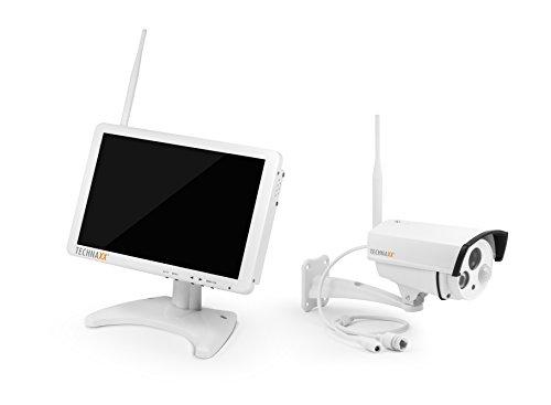 Technaxx 4641 Premium Security Überwachungskamera-Set (25,7 cm (10,1 Zoll) Monitor TX-29 und Receiver) weiß
