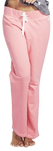 SOFFE Damen French Terry Lounge Pant Jogginghose, neon pink, X-Groß