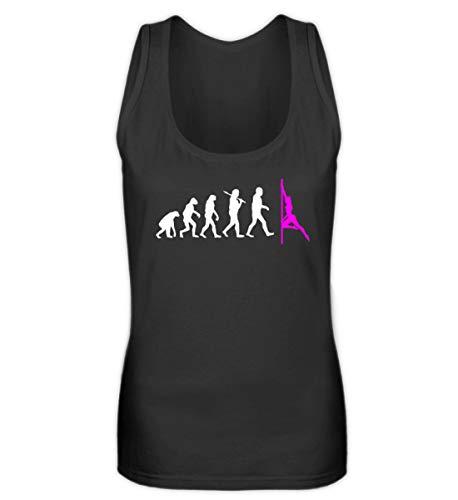Evolution Pole Dance Bekleidung T Shirt Pole-Dance Shirt Tanz-Stange Damen Herren - Frauen Tanktop -S-Schwarz