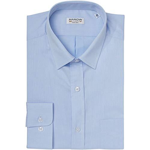 Arrow Hemd Komfort Fit aus Popeline Baumwolle Himmelblau Gr. 44, himmelblau