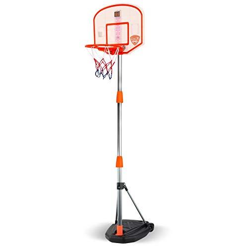 "Maccabi Art Pro Ball Portable Electronic Scoreboard Basketball Hoop for Kids, Adjustable Height Design up to 65"""