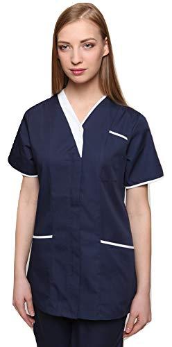 Mirabella Health & Beauty Casaca de Mujer para médicos y enfermería Cavell Azul Marino-Blanco 40