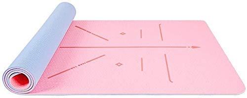 Leggero e resistente Stuoie di allenamento TPE Eco Amichevole antiscivolo Mat da esercizio Mat da trasporto Strap-Workout Mat per yoga,...