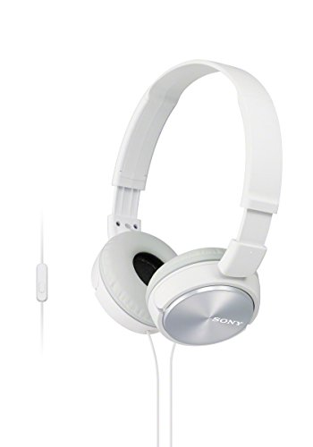 Sony MDRZX310AP/W On-Ear Headphones with Microphone (White)