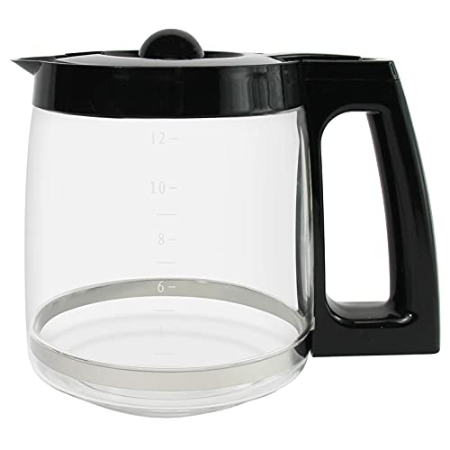 Ulrempart 12-Cup Replacement Coffee Carafe Pot | Compatible with Hamilton Coffee Maker, Machine, Brewer | Fit for Models 49980A, 49980Z, 49983, 49618, 46300, 46310, 49976, 49966, 49350 | Black